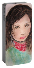 Her Expression Says It All Portable Battery Charger by Chrisann Ellis
