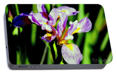 Portable Battery Charger featuring the photograph Iris Her Queen Majesty by Michael Hoard