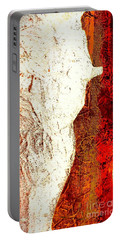 Her Red Silhouette Portable Battery Charger by Jacqueline McReynolds