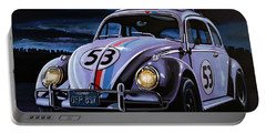 Herbie The Love Bug Painting Portable Battery Charger