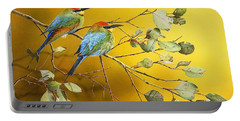 Here Comes The Sun - Rainbow Bee-eaters Portable Battery Charger