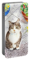 Here Kitty Kitty Kitty Portable Battery Charger