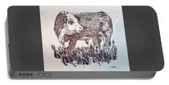 Polled Hereford Bull  Portable Battery Charger