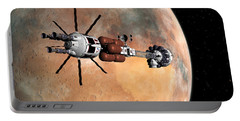 Portable Battery Charger featuring the digital art Hermes1 Mars Insertion Part 1 by David Robinson