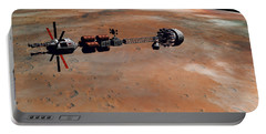 Portable Battery Charger featuring the digital art Hermes1 Orbiting Mars by David Robinson