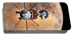 Portable Battery Charger featuring the digital art Hermes1 Realign Orbital Path by David Robinson