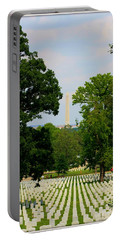 Heroes And A Monument Portable Battery Charger by Patti Whitten