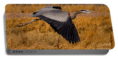 Portable Battery Charger featuring the photograph Heron  #5811 by J L Woody Wooden