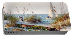 Heron And Sailboat Portable Battery Charger