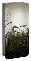 Heron At Dusk Portable Battery Charger