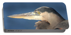 Heron Close-up Portable Battery Charger by Christiane Schulze Art And Photography