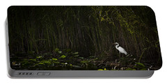 Heron In Grass Portable Battery Charger