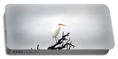 Heron On A Dead Tree Portable Battery Charger