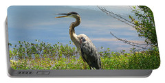 Heron On Lake Portable Battery Charger