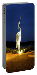 Heron On Mill Pond Portable Battery Charger