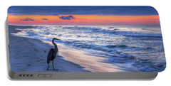 Heron On Mobile Beach Portable Battery Charger