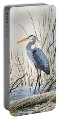 Herons Natural World Portable Battery Charger by James Williamson