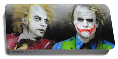 Health Ledger - ' Hey Why So Serious? ' Portable Battery Charger by Christian Chapman Art