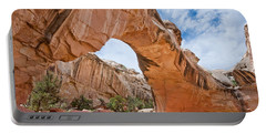 Portable Battery Charger featuring the photograph Hickman Bridge Natural Arch by Jeff Goulden