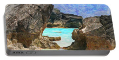 Portable Battery Charger featuring the photograph Hidden Beach by Verena Matthew