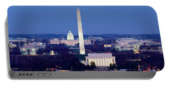 High Angle View Of A City, Washington Portable Battery Charger by Panoramic Images