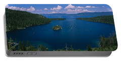 High Angle View Of A Lake, Lake Tahoe Portable Battery Charger