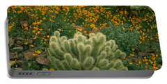 High Angle View Of Mexican Gold Poppies Portable Battery Charger
