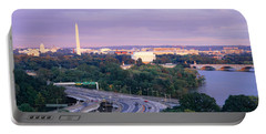 High Angle View Of Monuments, Potomac Portable Battery Charger by Panoramic Images