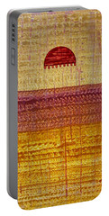 High Desert Horizon Original Painting Portable Battery Charger by Sol Luckman