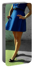 High Heels And A Blue Skirt Portable Battery Charger