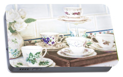 Portable Battery Charger featuring the photograph High Tea by Holly Kempe