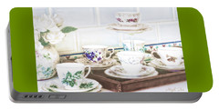 High Tea Portable Battery Charger by Holly Kempe