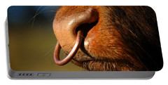 Portable Battery Charger featuring the photograph Highland Bull by Gavin Macrae