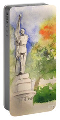 Highland Cemetery-plein Air-ypsilanti Michigan 1 Portable Battery Charger