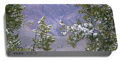 Portable Battery Charger featuring the photograph Highlighting Snow by Roberta Byram