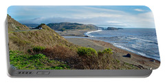 Highway 1 Near Outlet Of Russian River Into Pacific Ocean Near Jenner-ca  Portable Battery Charger