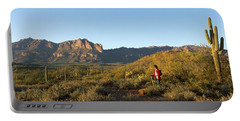 Hiker Standing On A Hill, Phoenix Portable Battery Charger by Panoramic Images