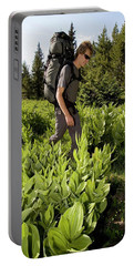 Hikers In Forest In Colorado Portable Battery Charger