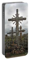 Hill Of Crosses 06. Lithuania.  Portable Battery Charger by Ausra Huntington nee Paulauskaite