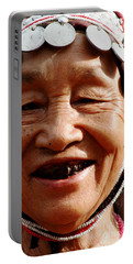 Hill Tribe Smile Portable Battery Charger by Nola Lee Kelsey