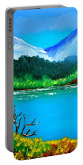 Hills By The Lake Portable Battery Charger