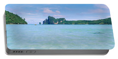 Hills In The Ocean, Loh Dalum Bay, Ko Portable Battery Charger