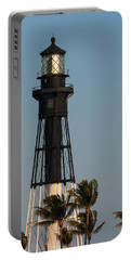 Hillsboro Inlet Lighthouse In The Evening Portable Battery Charger