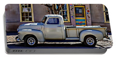 Portable Battery Charger featuring the painting Hillsboro New Mexico 1949 Gmc 100 by Barbara Chichester