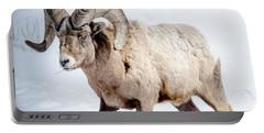 Big Horns On This Big Horn Sheep Portable Battery Charger