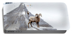 On The Road Again Big Horn Sheep  Portable Battery Charger