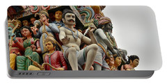 Hindu Gods And Goddesses At Temple Portable Battery Charger