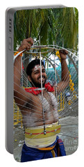Portable Battery Charger featuring the photograph Hindu Thaipusam Festival Pierced Devotee  by Imran Ahmed