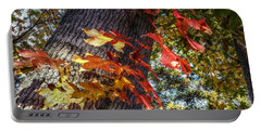 Hints Of Fall Portable Battery Charger by Linda Unger