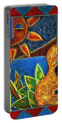 Portable Battery Charger featuring the painting Hispanic Heritage by Oscar Ortiz